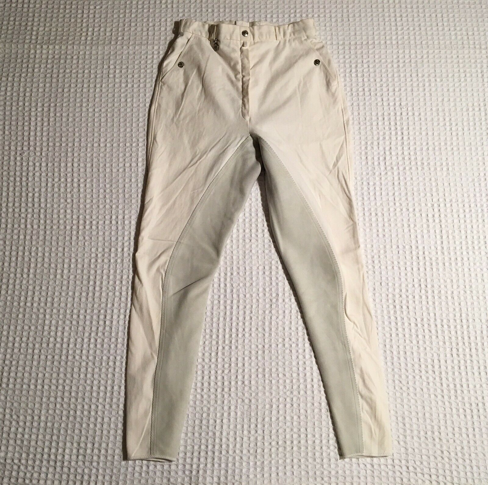 PIKEUR Full Suede  Seat Horse Riding Equestrian Jodhpurs Breeches 32 L Long White  great offers