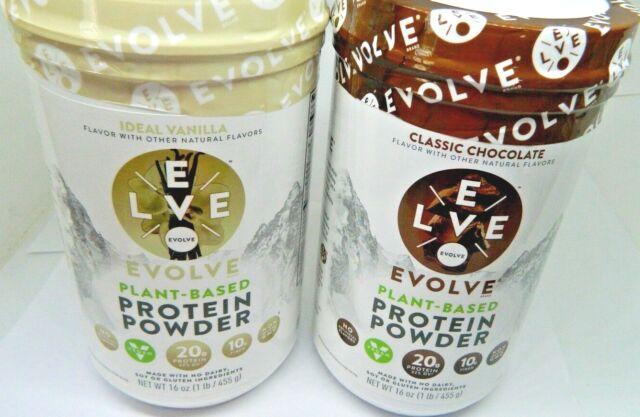 *BEST BY 04/2021* 2 PACK- Evolve Protein Powder1 Chocolate 1 Vanilla16oz each