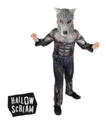 NEW HALLOWEEN PARTY FUN HALLOW-SCREAM WEREWOLF COSTUME WITH MASK
