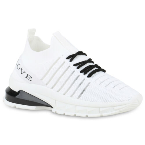 Damen Plateau Sneaker Keilabsatz Turnschuhe Keilsneaker Wedges 831867 Trendy Neu
