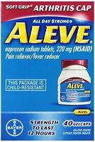 5 Pack - Aleve Arthritis Soft Grip Arthritis Cap, 40 Gelcaps Each on sale