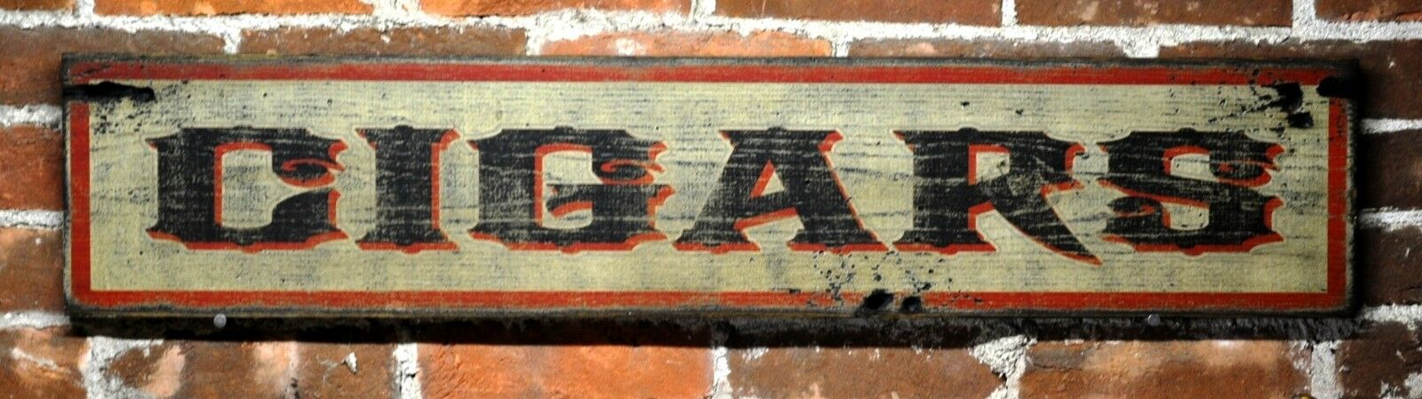 Classic Cigars Wood Sign - Rustic Hand Made Vintage Wooden Sign