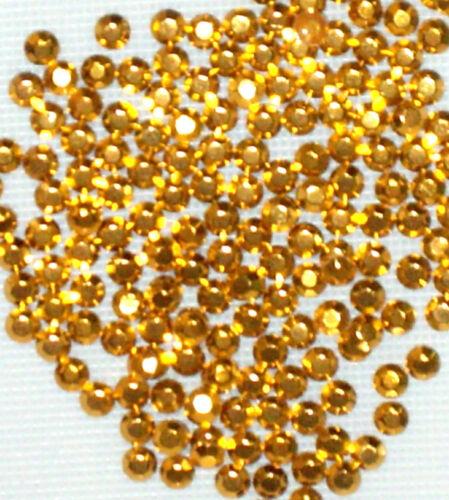 100 gross 14400 x 2 mm GOLD  HOTFIX  IRON ON  RHINESTUDS wholesale beads
