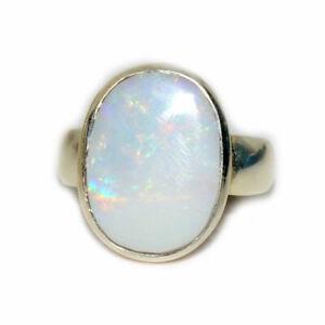 Echter-Opal-925-Silber-Ring-Schmuck-5-Karat-Healing-Oktober-Birthstone-Schmuck