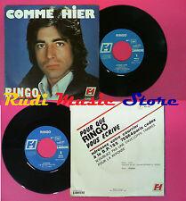 LP 45 7'' RINGO Comme hier Cynthia 1976 france FORMULE 1 49.212 no cd mc dvd