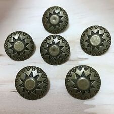 "15mm Concho Pkg of 5 BONE Metal Rivet Studs 5//8/"" x 5//16/"" 1089 Leather Crafts"