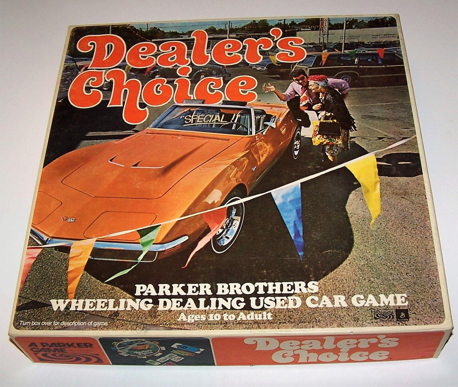 Vintage 1972 Dealer's Choice Parker Bredhers Wheeling Dealing Used Car Game NICE
