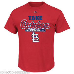 St. Louis Cardinals Majestic 2015 Playoff Take October T-Shirt Tee Shirt