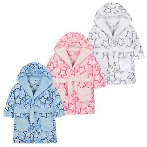2253d869e20f6 Baby Boy Girl Babies Dressing Gown Robe Plush Fleece Velvet Soft ...