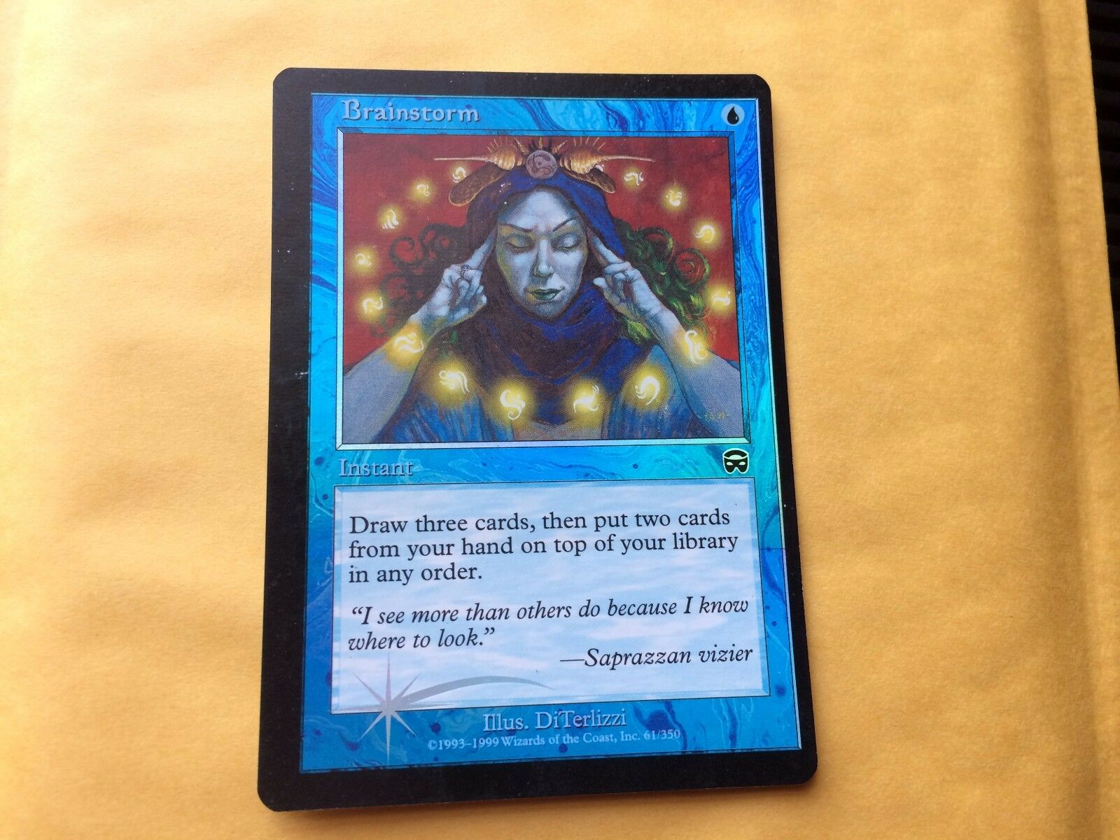 Miscut Foil Brainstorm MM Misprint GENUINE GENUINE GENUINE MTG Magic Card Mercadian Masques 2333a5
