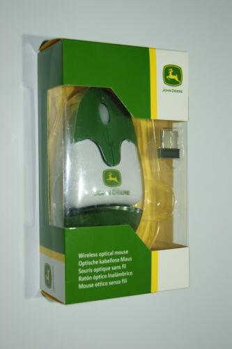 Original John Deere Optische kabellose Maus PC Fanartikel Geschekidee Neu!