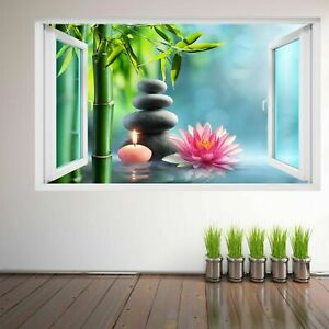 Home, Furniture & DIY Spa Massage Stones Water Lily Wall Art Sticker Mural Decal with 3D Effect FS19 Home Décor Items