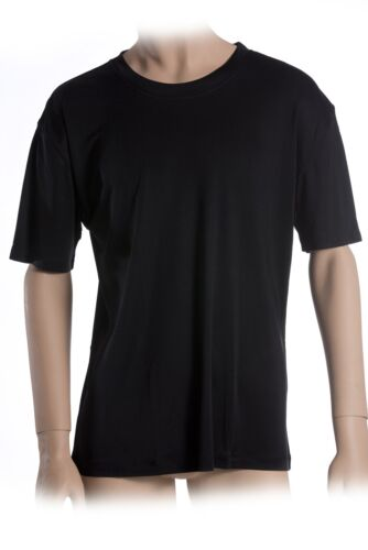 Interlock Schwarz XL SUPERIOR NATURALS Herren T-Shirt 100/% Seide