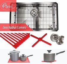 """Ariel 30"""" Undermount Stainless Steel Zero Radius Single Bowl Kitchen sink Combo"""