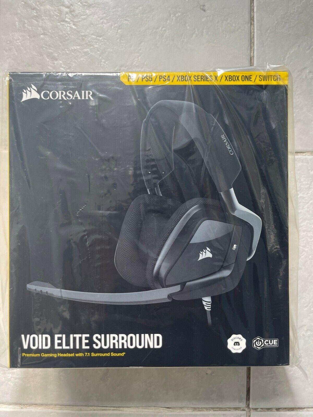 CORSAIR VOID RGB ELITE Premium Gaming Headset 7.1 Surround Sound 🎧New