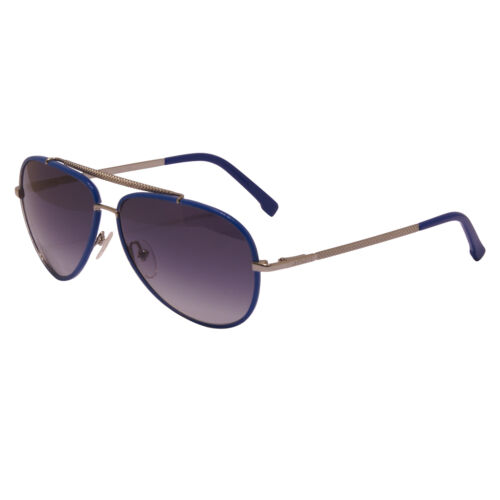 Lacoste Blue and Silver Aviator Style Sunglasses with Case
