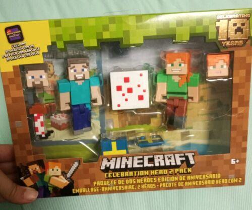 Includes FREE APP Minecraft 10th Celebration Hero 2 pack w//cake!