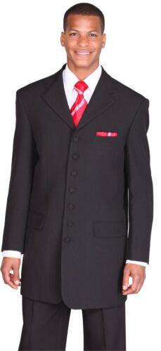 """Men/'s Seven button basics suit Polyester 37/"""" Length Design By Milano Moda 903"""