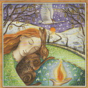 Pagan wiccan greeting cards dreaming of spring goddess hare blank image is loading pagan wiccan greeting cards dreaming of spring goddess m4hsunfo