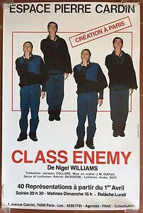Affiche-CLASS-ENEMY-Espace-Pierre-Cardin-NIGEL-WILLIAMS-1985