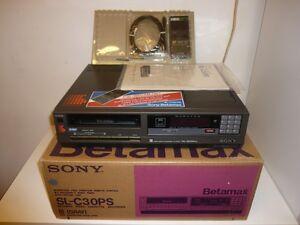 Sony-SL-C30PS-Betamax-Recorder-OVP-amp-NEU-generalueberholt-RARITAT-2J-Garantie