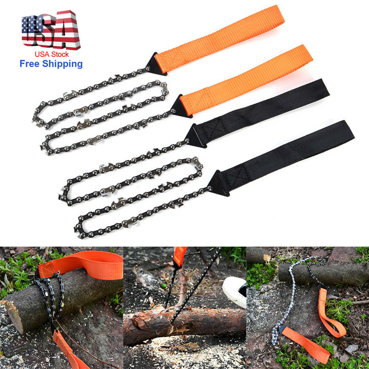 Portable Survival Chain Saw Pocket Garden Hand ChainSaw Camping Tool Emergency