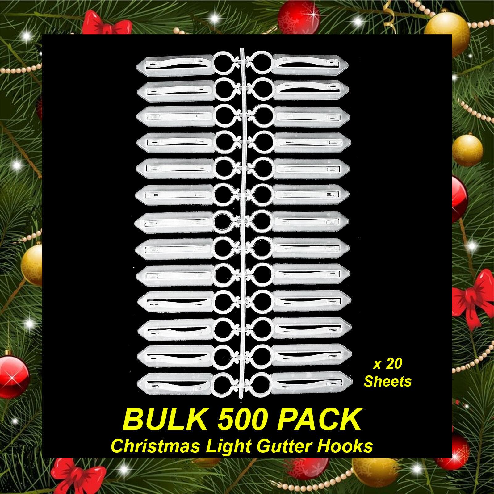 BULK 500 Pack Gutter Hooks   Clips for Hanging Christmas Lights String Fairy