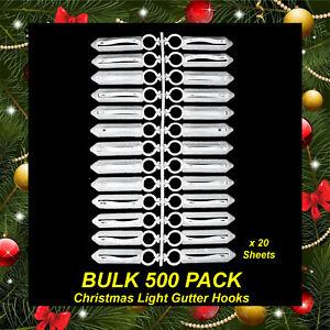 Bulk Christmas Lights.Details About Bulk 500 Pack Gutter Hooks Clips For Hanging Christmas Lights String Fairy