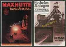 Maxhütte Sulzbach-Rosenberg Stahl Hochofen Arbeiter Montan DEMAG Duisburg 1939!!