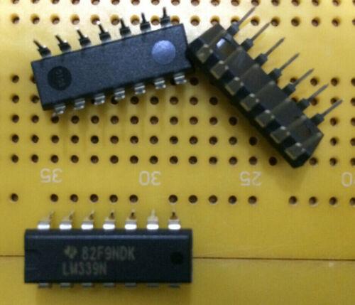 LM339N Quad Comparator Open Collector 1.3us 3V-28V Texas Instruments PDIP-14