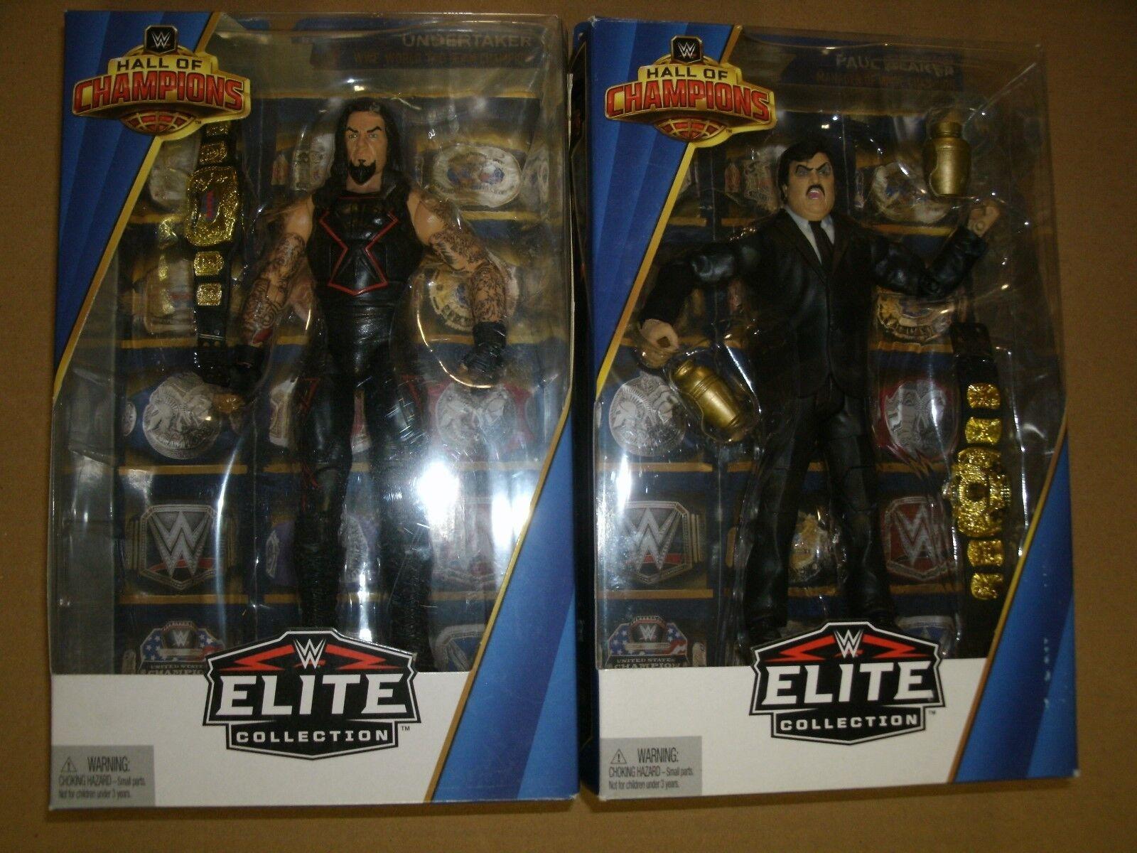 WWE PAUL BEARER & UNDERTAKER ELITE HALL OF CHAMPIONS CHAMPIONS CHAMPIONS FIGURE 1f1ca4