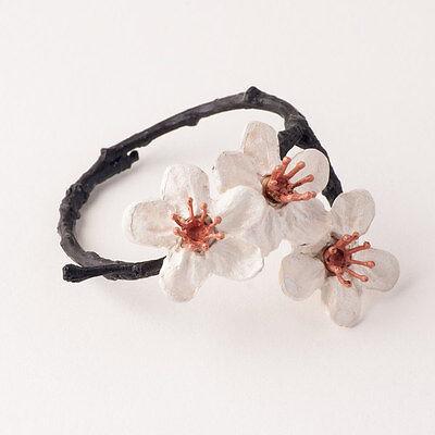 Cherry Blossom Napkin Rings - Michael Michaud Table Art