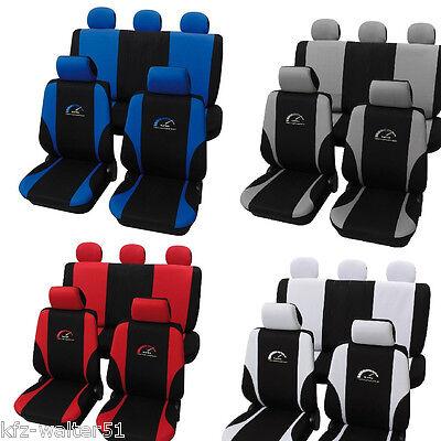 Für Ford Fiesta Sitzbezüge /  Schonbezüge Turbo blau rot grau weiss