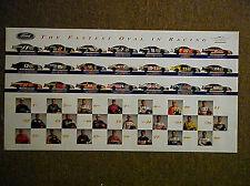 1995 FORD THUNDERBIRD NASCAR POSTER JARRETT, MARTIN,ELLIOTT,WALACE,MARTIN,DODIN