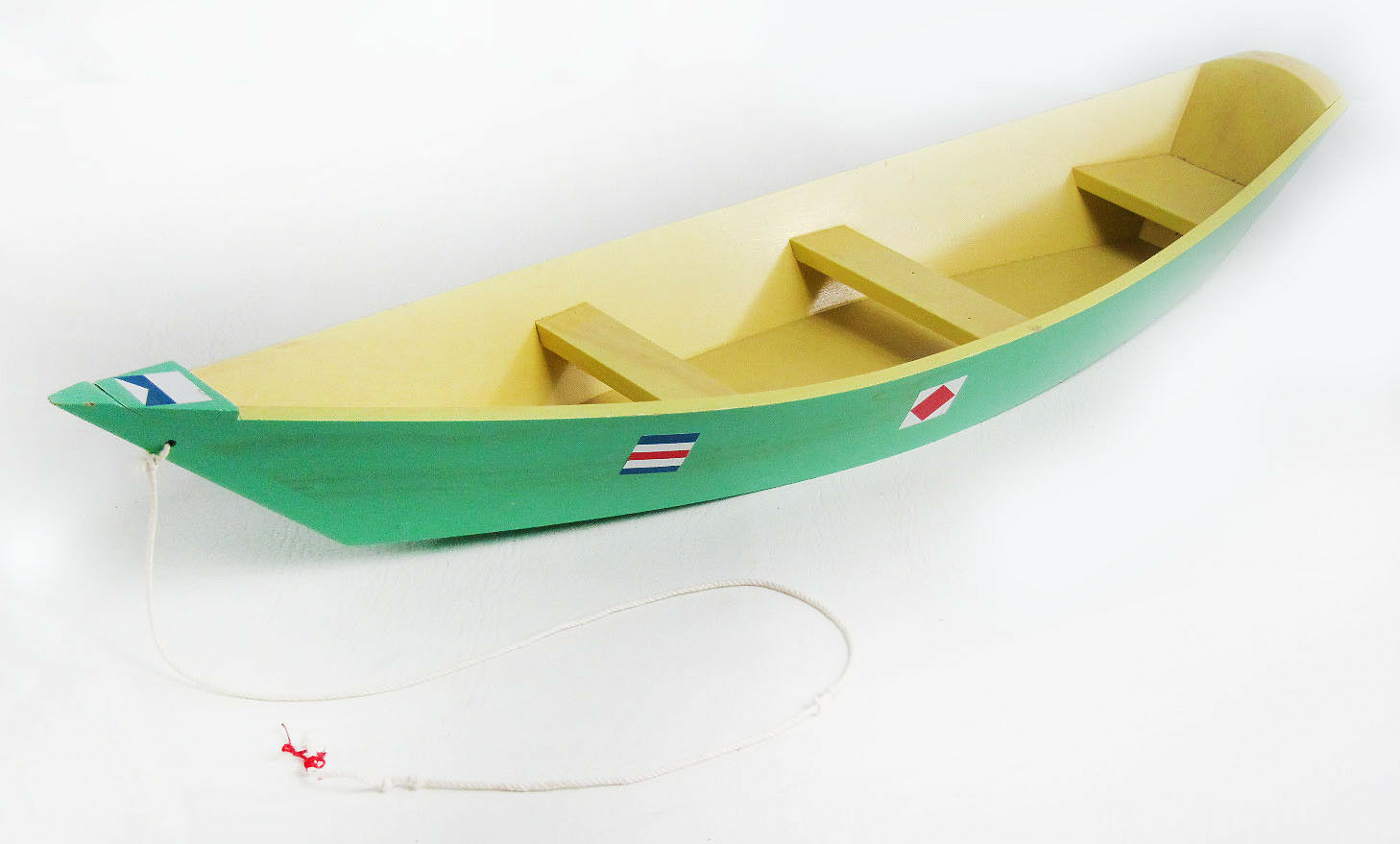 Large Vintage 1 6 Scale GI Joe Wooden Boat With Paddle