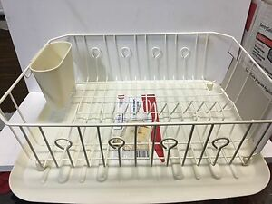 Image Is Loading Large Rubbermaid Kitchen Dish Drainer Rack Set Amp