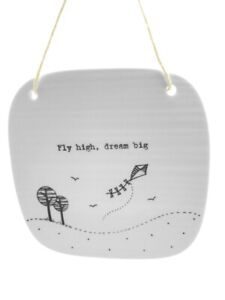 Porcelain-Square-Hanging-Picture-Plaque-Fly-High-Dream-Big