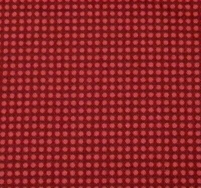 "1 yd 30"" Elvis Nights VIP Cranston Red Dot Blender on Darker Red / Almost Black"
