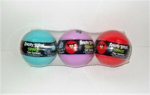 PACK CAPSULES GREAT PENCIL TOPPERS NEW ANGRY BIRDS SPACE TINY TOPPERS LOT OF 3