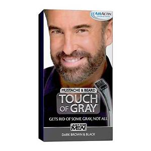 Just for Men Touch of Gray Mustache & Beard Dark Brown Black Hair Coloring
