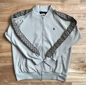 8f64230bd 100% authentic Bape x Gucci Monogram Track Jacket L camo tiger shark ...