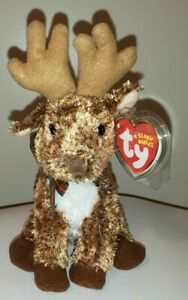 Ty Beanie Baby - ROOFTOP the Reindeer (7 Inch) MINT with MINT TAGS