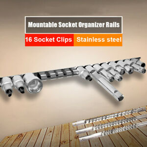 1-2-039-039-Mountable-Socket-Organizer-Rails-Holder-Stainless-Steel-Clips-Tools