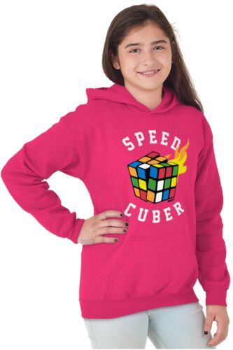 Speed Cuber Official Rubik/'s Cube Puzzle Gift Youth Hooded Sweat Shirt For Kids