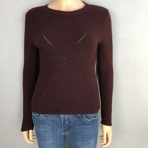 6951af670d5 Kendall   Kylie Women s Ribbed Pullover Sweater Size Small Crew Neck ...