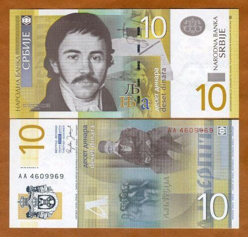 SERBIA 10 DINARA 2006 P 46 UNC