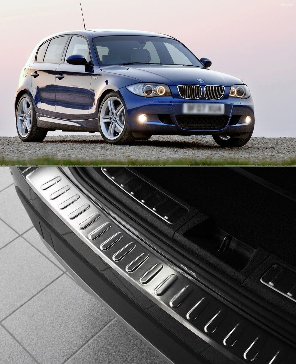 BMW 5ER G31 GRAND TOURER 2017+Chrome Rear Bumper Protector Scratch Guard S.Steel