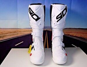 SIDI-Crossfire-2-SRS-motorcycle-boots-SR-MX-dirt-bike-white-Blk-47-US-12-5-HB