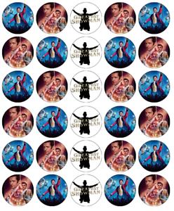The Greatest Showman Cupcake Toppers Edible Wafer Paper Fairy Cake Topper