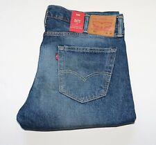 New Levi's 511 SLIM FIT SELVEDGE JEANS White Oak Denim Men's Size W38 L32
